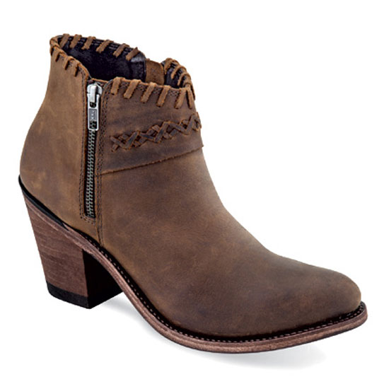 Old West Women's Brown Leather Fashion Boots