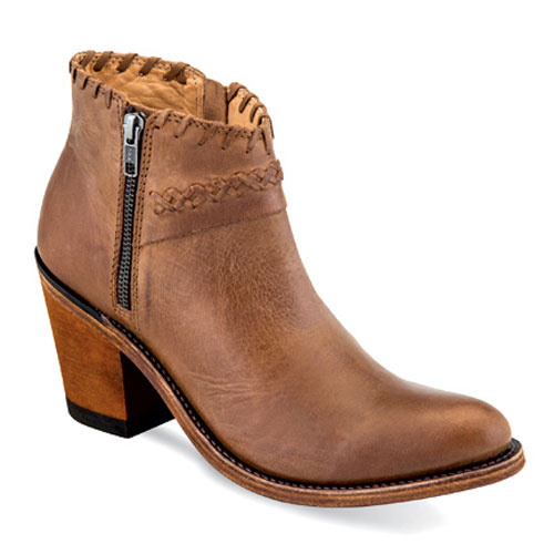 Old West Women's Tan Leather Fashion Boots
