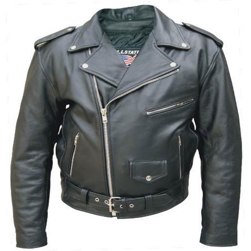 Men's Buffalo Premium Leather Motorcycle Jacket