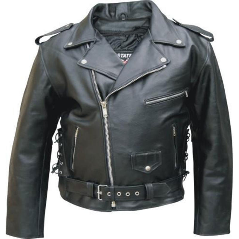 Men's Motorcycle Jacket in Premium Buffalo Leather