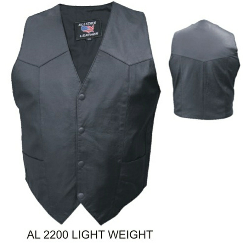 Mens basic plain Vest (Goat skin).