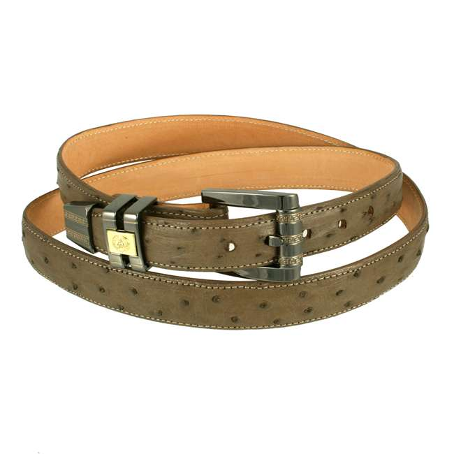 Bronco Belts Mink Full Quill Ostrich 1