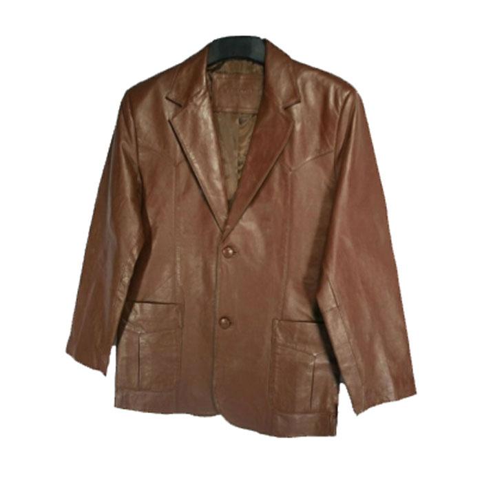 Western Blazer Brown Lamb Skin