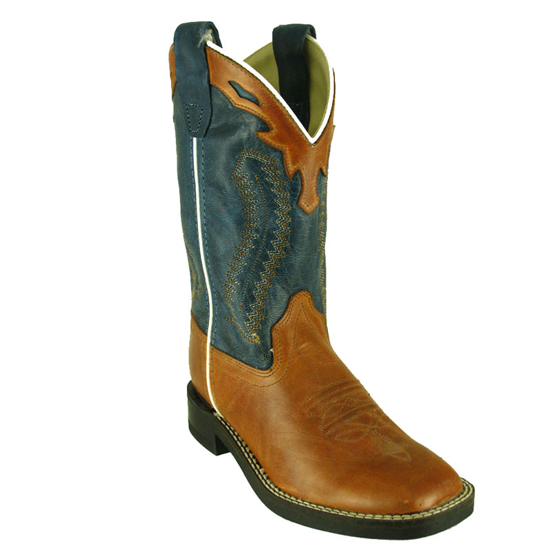Old West Kids' Barnwood Square Toe Western Boot