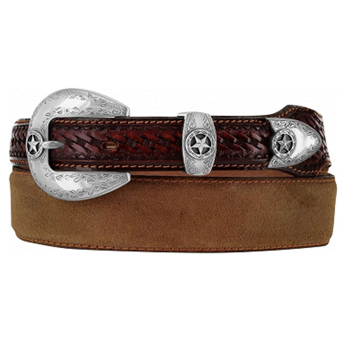"Justin Brown Leather 1 ½ - 1"" Belt"