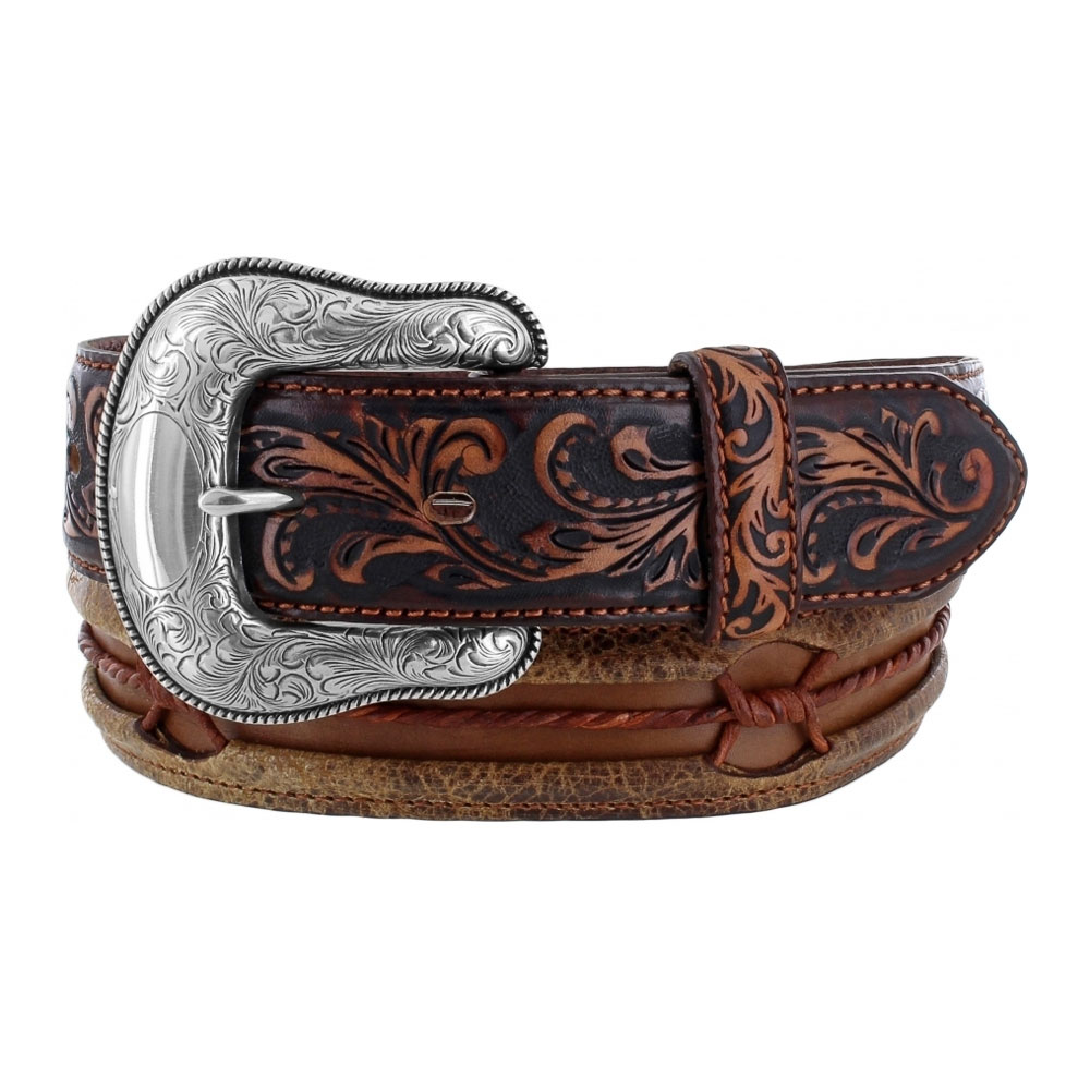 "Justin Brown Vintage Barb 1 ½"" Leather Belt"
