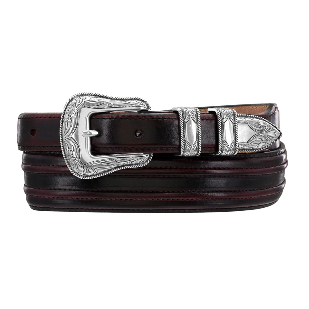 "Justin Black Cherry Creek 1 – 1 ½"" Leather Belt"