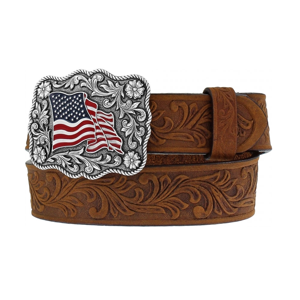 "Justin Brown American Pride 1 ¼"" Leather Belt"
