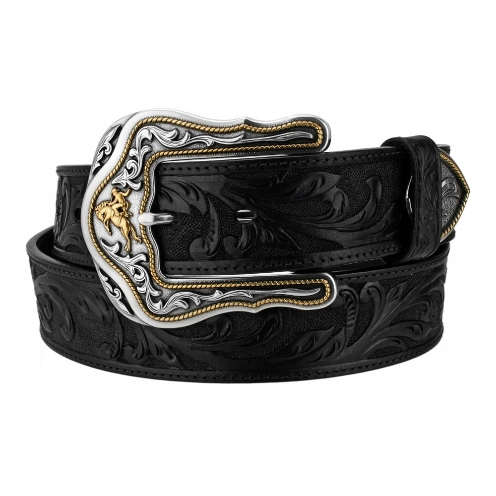 "Tony Lama Black Westerly Ride 1 ½"" Leather Belt"