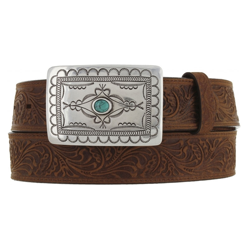 Tony Lama Ladies Aged Bark Navajo Spirit Western Belt