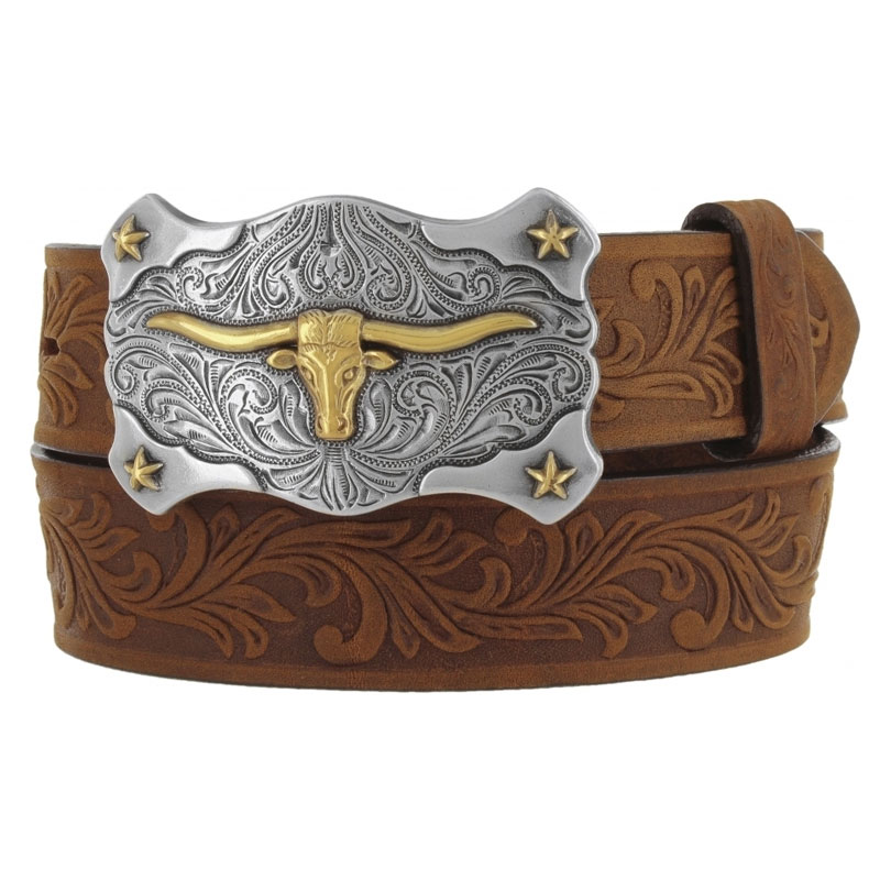Tony Lama Kid's Aged Bark Little Texas Western Belt