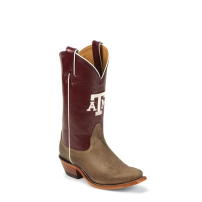 Nocona Women's A&M Tan Vintage College Cowgirl Boots. LDATM22
