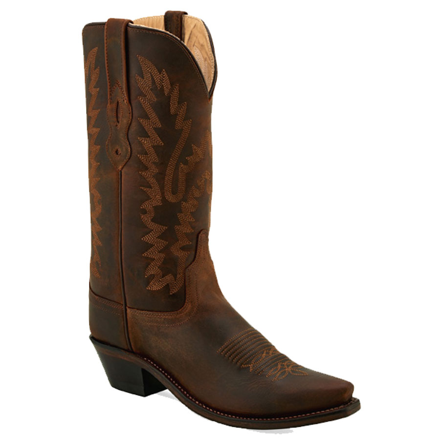 Old West Women's Brown Snip Toe Western Boots