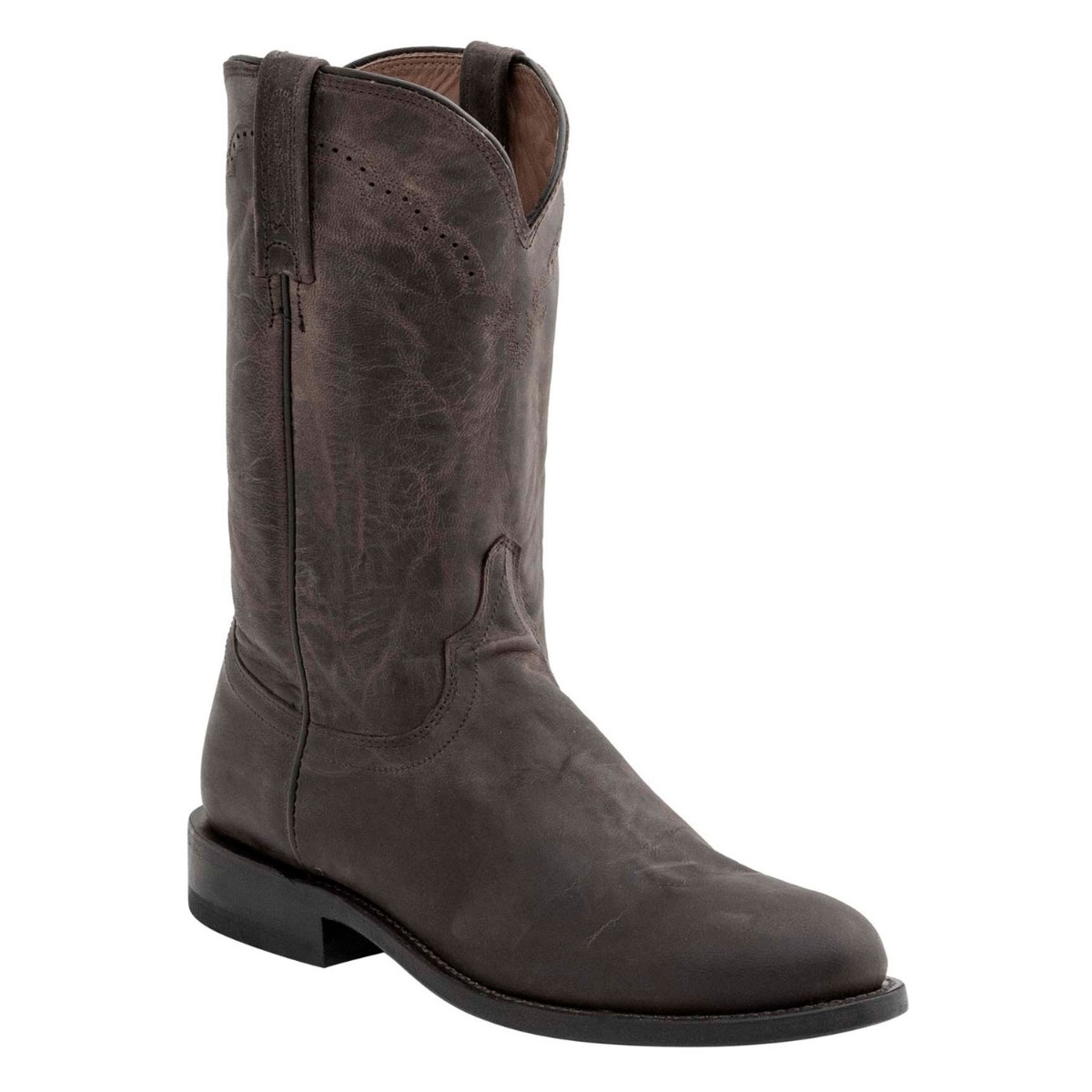 Lucchese Men's Chocolate Madras Goat Roper Boots