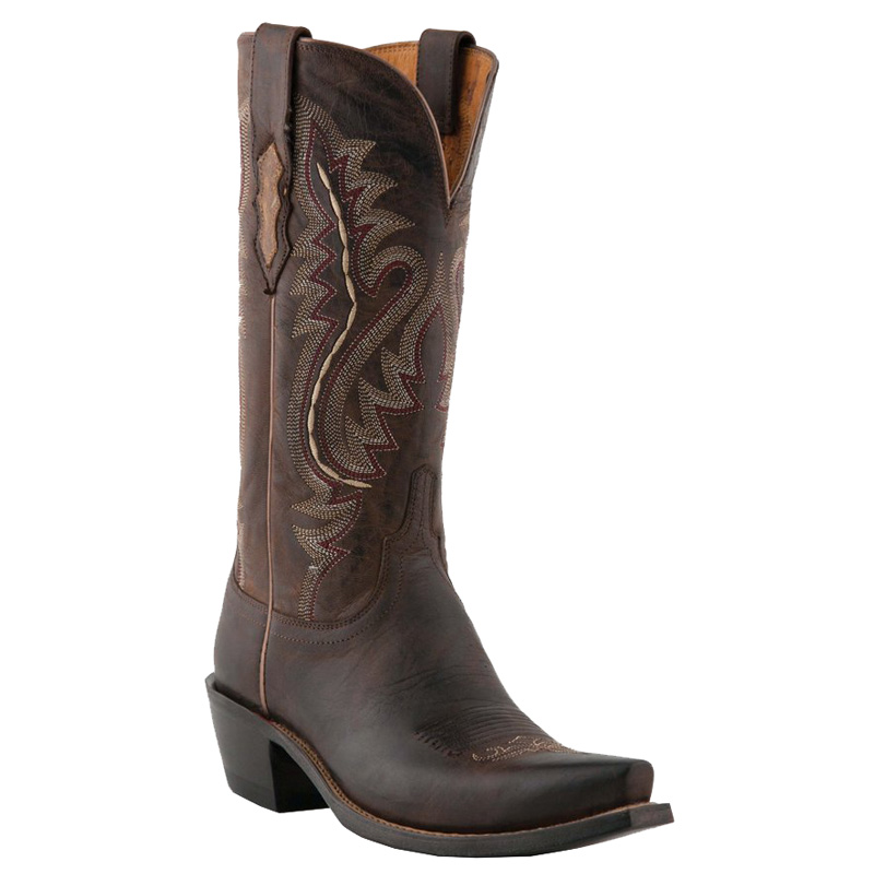 Lucchese Women's Chocolate Goat Snip Toe Western Boots
