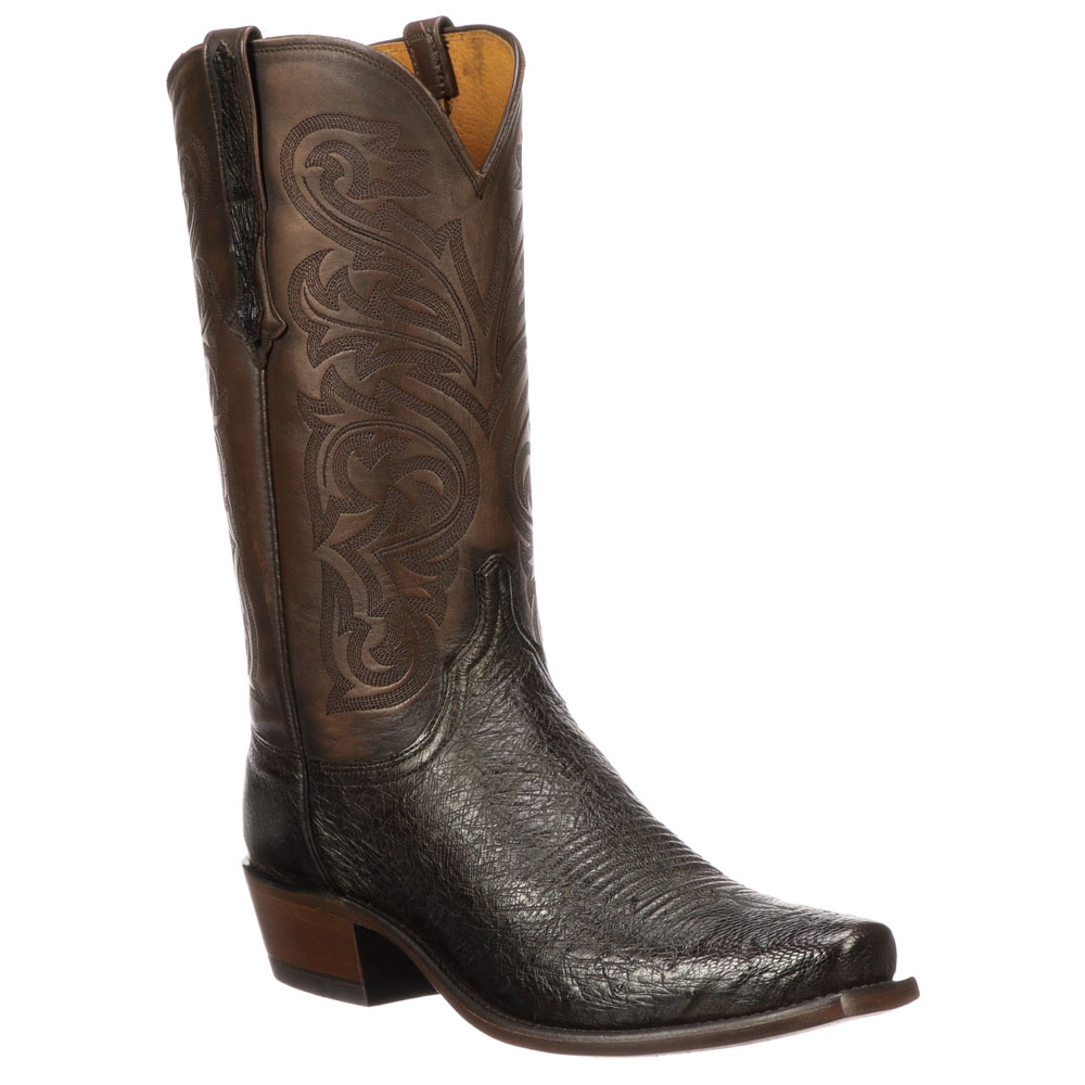 Lucchese Men's Sienna Smooth Ostrich Narrow Square Toe Cowboy Boots