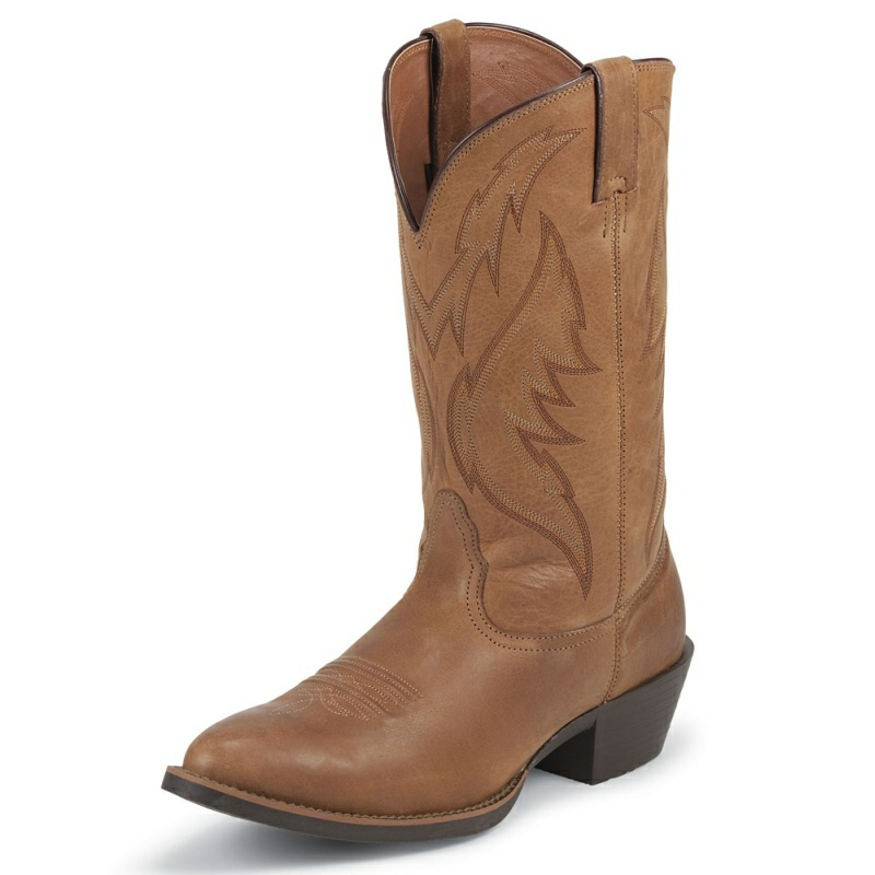 NOCONA MEN'S SABLE LEATHER MEDIUM ROUND TOE BOOTS