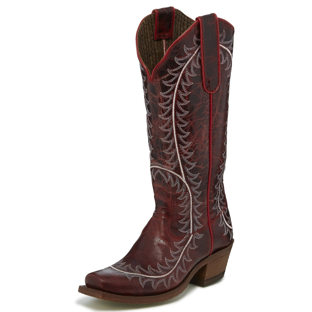 Nocona Women's Red Narrow Square Toe Western Boots