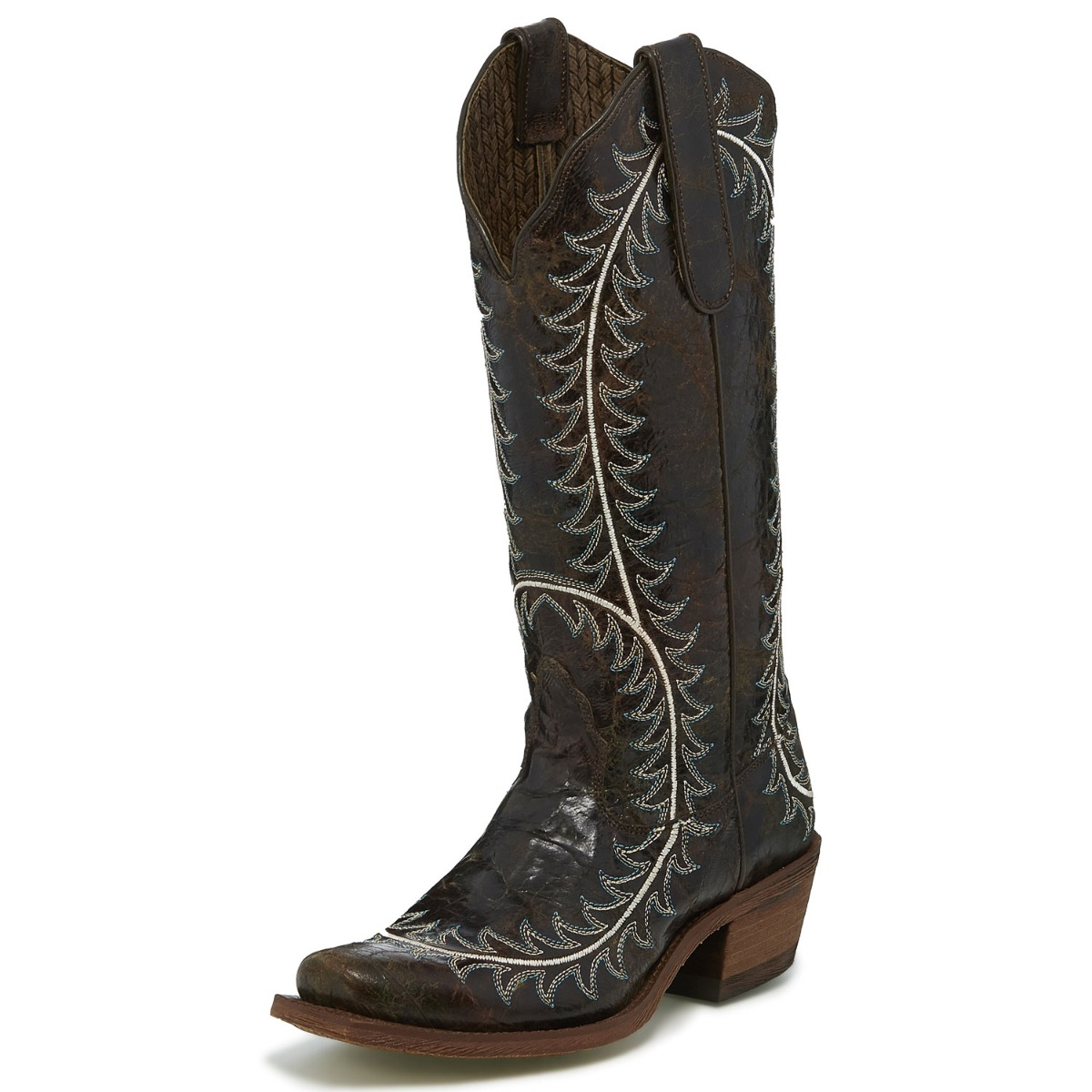 Nocona Women's Dark Brown Narrow Square Toe Western Boots