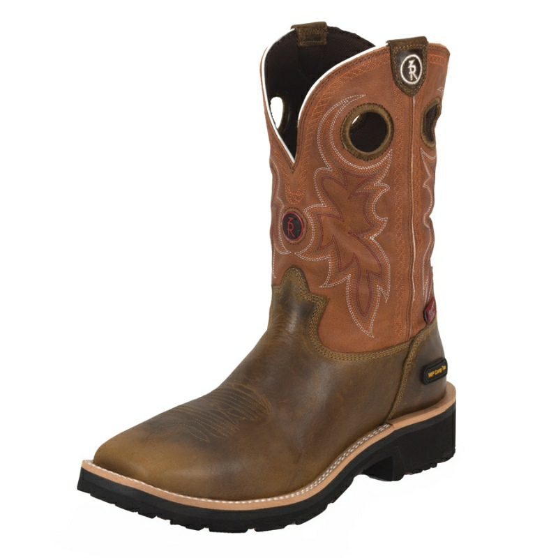 TONY LAMA MEN'S TAN COMANCHE W/P COMPOSITION SQUARE TOE