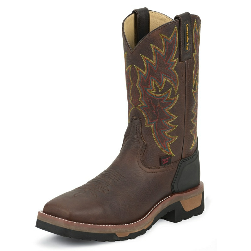 TONY LAMA MEN'S - BARK BADGER COMPOSITION TOE # TW1061
