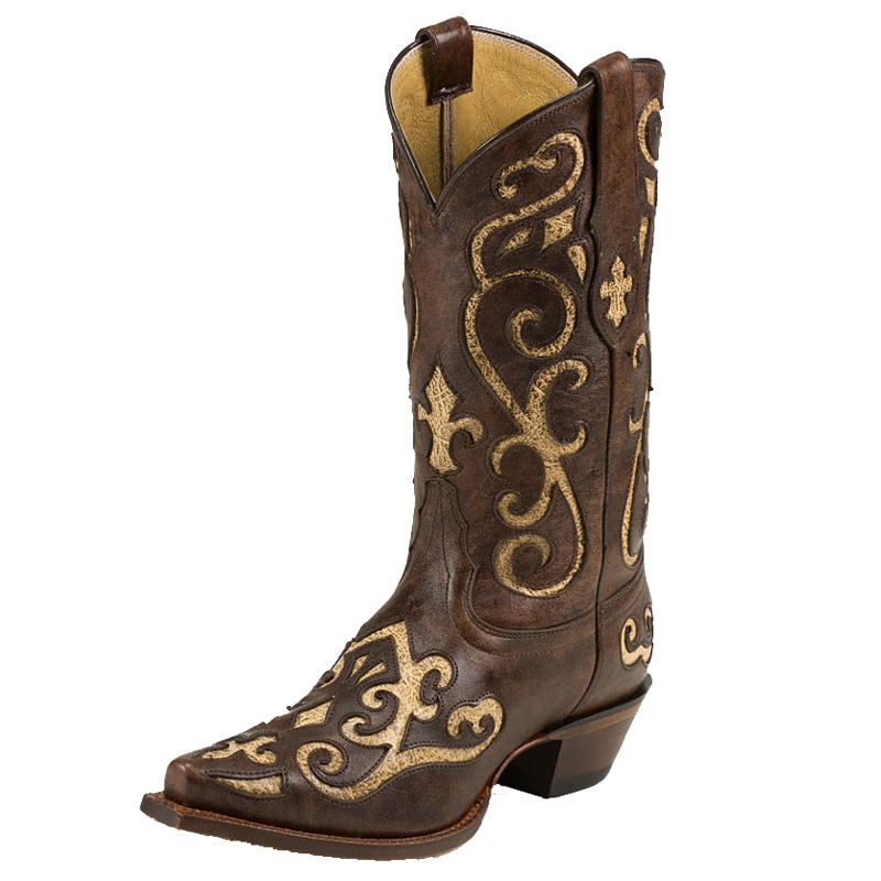 TONY LAMA WOMEN'S EARTH SANTA FE SNIPT TOE WESTERN BOOTS