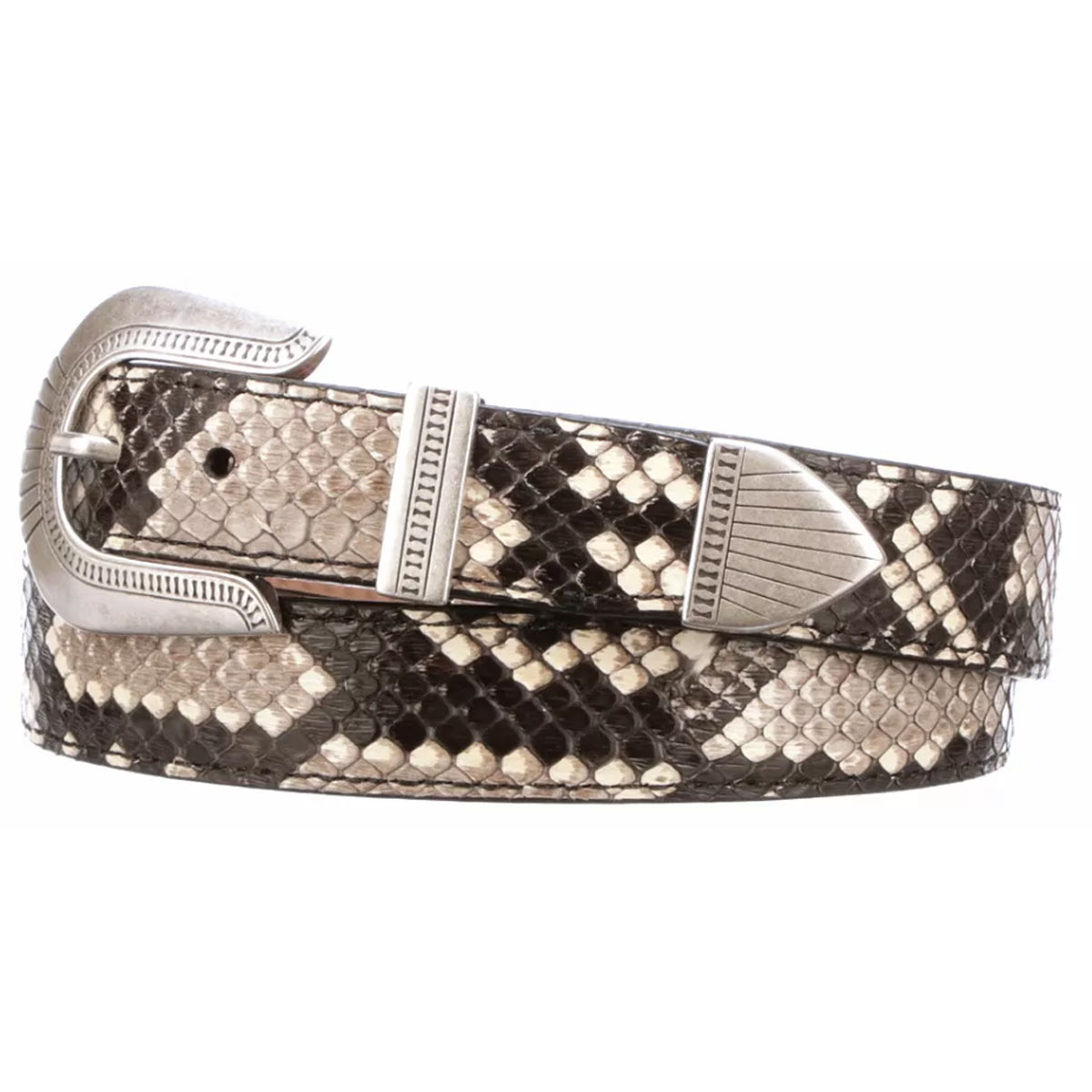 Lucchese Women's Black & White Python Belt